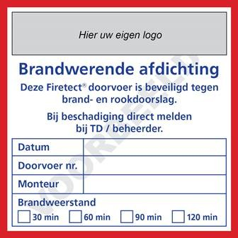 sticker brandwerende afdichting